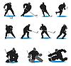 Hokej Sylwetki | Stock Vector Graphics