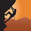 Wspinaczka skałkowa | Stock Vector Graphics