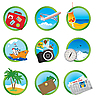 Vektor Cliparts: Vacation icons
