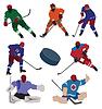 Hokej na lodzie ustawiony | Stock Vector Graphics