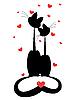 ID 3047238 | 两只猫爱 | 向量插图 | CLIPARTO
