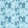 Nahtloser Hintergrund mit Elefanten