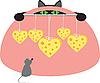 Maus, Katze und Käse