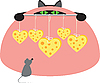 ID 3136542 | Maus, Katze und Käse | Stock Vektorgrafik | CLIPARTO