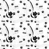 Nahtloses Muster mit Katzen und Mäusen