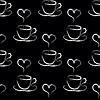 nahtloser Hintergrund mit Tassen Kaffee