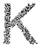 ID 3047857 | Buchstabe K aus gehämmerten Nägeln | Illustration mit hoher Auflösung | CLIPARTO