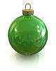 Zielone Boże Narodzenie błyszczący ball i błyszczące izolowane | Stock Illustration