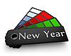 새해 색상 팔레트 | Stock Illustration