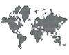 ID 3048017 | Карта мира из серебряных шариков | Иллюстрация большого размера | CLIPARTO