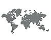 ID 3048018 | Карта мира из серебряных шариков | Иллюстрация большого размера | CLIPARTO
