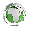 Photo 300 DPI: Abstract green globe with Africa