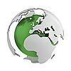 ID 3048069 | Abstrakcyjna zielony globu z Europy | Stockowa ilustracja wysokiej rozdzielczości | KLIPARTO