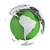 ID 3048070 | Abstrakcyjna zielony globu z części Ameryki Południowej | Stockowa ilustracja wysokiej rozdzielczości | KLIPARTO