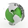 ID 3048071 | Abstrakte grüne Weltkugel mit Amerika | Illustration mit hoher Auflösung | CLIPARTO