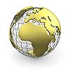 ID 3048073 | Złoty Glob, Europa i Afryka | Stockowa ilustracja wysokiej rozdzielczości | KLIPARTO