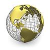 ID 3048074 | Złoty Glob, Ameryka | Stockowa ilustracja wysokiej rozdzielczości | KLIPARTO