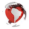 ID 3048079 | Globus mit Herz, Südamerika | Illustration mit hoher Auflösung | CLIPARTO