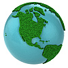 ID 3048919 | Grasglobus mit Nordamerika | Illustration mit hoher Auflösung | CLIPARTO