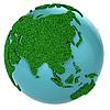 ID 3048920 | Grasglobus mit Asien | Illustration mit hoher Auflösung | CLIPARTO