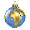 ID 3126782 | Weihnachtskugel als Globus oder Planeten geformt, Afrika Teil | Illustration mit hoher Auflösung | CLIPARTO