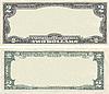 ID 3126991 | Leere Vorlage der 2-Dollar-Banknote für Design-Zwecke | Foto mit hoher Auflösung | CLIPARTO