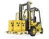 Wózek widłowy z radioaktywnych beczek | Stock Illustration