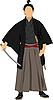 Samurai mit dem Schwert