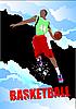Plakat mit Basketball-Spieler