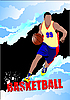 ID 3048265 | Plakat mit Basketball-Spieler | Stock Vektorgrafik | CLIPARTO