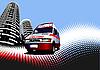 städtischer Hintergrund mit Krankenwagen