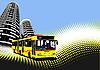 Autobus in einer Stadt
