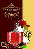 ID 3048329 | Umschlag mit roten Geschenk-Box und Blättern | Stock Vektorgrafik | CLIPARTO