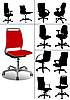 Vector clipart: set of office chairs