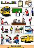 Set von Schule-Bildern