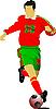 ID 3048419 | Fußballspieler | Stock Vektorgrafik | CLIPARTO