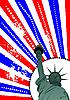 American flag i Statua Wolności | Stock Vector Graphics