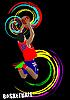 농구 선수의 포스터 | Stock Vector Graphics