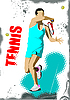 ID 3048584 | Poster mit Tennis-Spieler | Stock Vektorgrafik | CLIPARTO