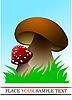 ID 3048702 | Zwei Waldpilze | Stock Vektorgrafik | CLIPARTO