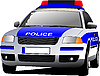 Vector clipart: Police car