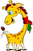 Векторный клипарт: Маленький смешной жираф