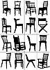 Set von Stuhl-Silhouetten