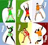 Sechs Poster mit Tennisspielern