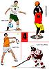 Fußball, Eishockey, Tennis, Basketball