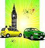 zwei Autos in London