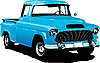 Vector clipart: Old blue pickup