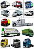 Set von Lastwagen