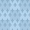 Blauer nahtloser Hintergrund mit Burbonischen Lilien