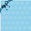 blauer Hintergrund mit Band und Schneeflocken